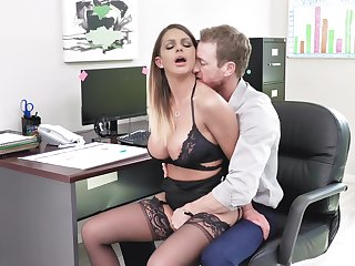 Fine office XXX action for the busty secretary